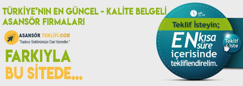 Türkiye'nin en güncel asansör firmaları